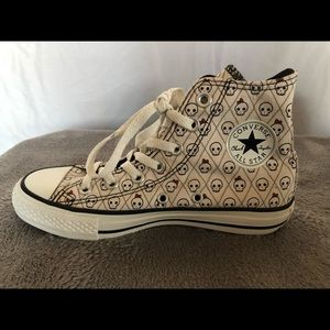 Converse All-star Boy/Girl Skull Bow High-tops